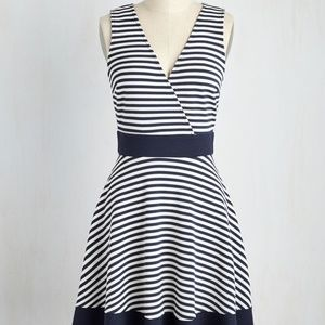 Brand New Maritime is on Your Side Dress in Navy